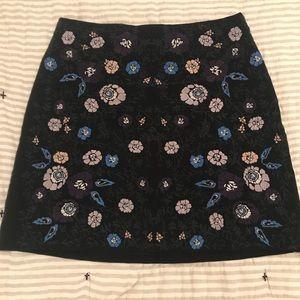 Club Monaco embroidered skirt